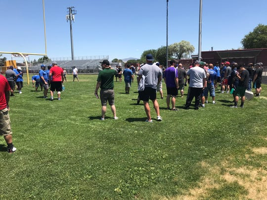 The Oakland Raiders partnered with USA Football to sponsor a clinic for Northern Nevada youth and high school football coaches.