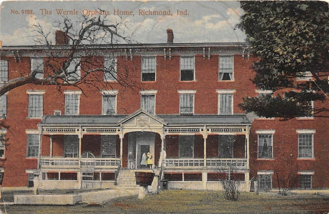 This 1910 picture of the front of the Wernle orphanage is one of a series of postcards of the Richmond environs.