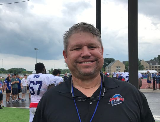 Paul Alexander, 59, of Rochester coached 27 years in the NFL, 24 of them as line coach of the Cincinnati Bengals. He visited Bills camp Tuesday as part of Sirius radio team and ProCoach.Network.