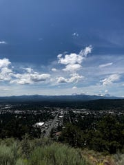 The view from the top of Pilot Butte in Bend photographed on July 14, 2019.