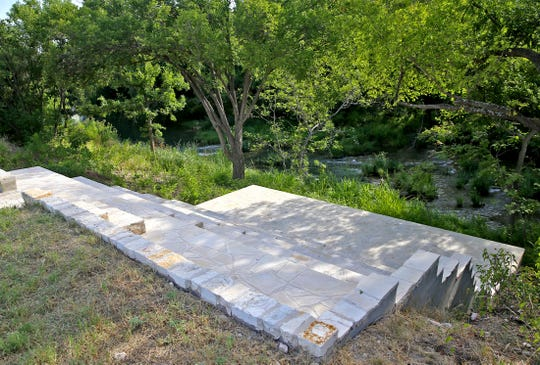 The ceremony site at the South Concho River Falls Chapel and Venue just north of Christoval can be be seen here in this Tuesday, July 30, 2019 photo.