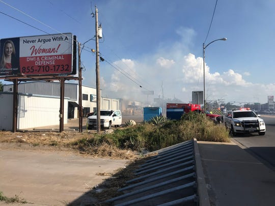 A structure fire was reported at EZ Pawn, 2018 S. Bryant Blvd., in San Angelo on Tuesday, July 30, 2019.