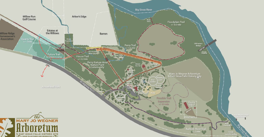 A bike trail underpass could soon run below Highway 42, connecting the Perry Nature Area with Arrowhead Park. See a more detailed view of this image lower in the article.