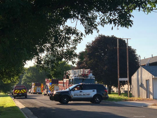 Crews responded to a report of a structure fire around 7:30 a.m. on Tuesday at 4601 East Clark St