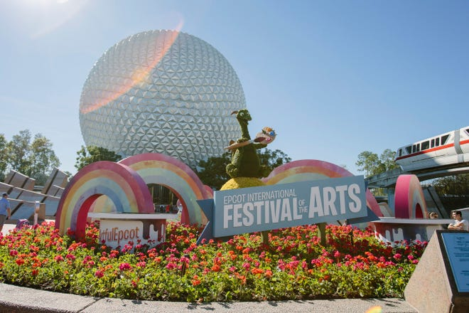 The loveable Figment welcomes guests to the 2019 Epcot International Festival of the Arts at Walt Disney World Resort in Lake Buena Vista, Fla. The annual event celebrates the culinary, visual and performing arts.