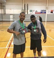 Marcus Jenkins and Eric Williams will play doubles pickleball at the State Games of America in Lynchburg Wednesday,