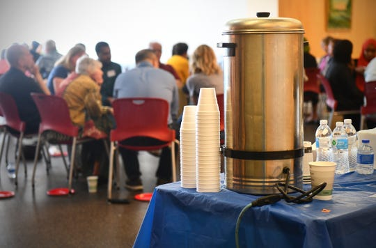 Somali-style tea is served during a Dine and Dialogue event Saturday, July 20, 2019, at the St. Cloud Public Library.