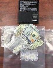Photos of drugs, guns and cash seized from last week's ALLinLEON opreation