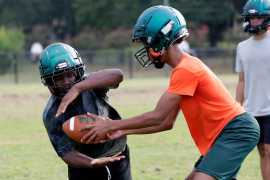 The FAMU DRS football team holds one their first fall practices Tuesday, July 30, 2019.