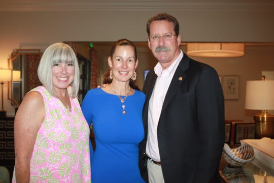 Shaun Kelly, left, with Lisa and Doug Smith at the Martin County Healthy Start Coalition luncheon at Pipers Landing Country Club in Palm City.