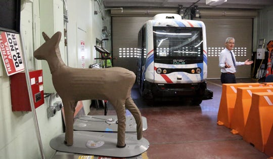 A deer decoy at the GoMentum Station, proving grounds for autonomous vehicles, in Walnut Creek, California, on Tuesday, July 16, 2019.