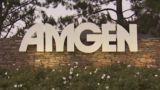 Based in Thousand Oaks, Amgen is the world's largest biotech drugmaker.