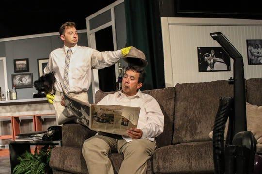 "Henry Allen Ralston as Felix Ungar,  John Olmos as Oscar Madison in ""The Odd Couple."""