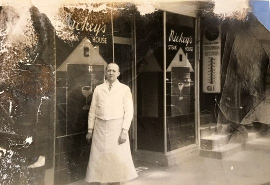A vintage photo of Rickey's Steak House in New York City.