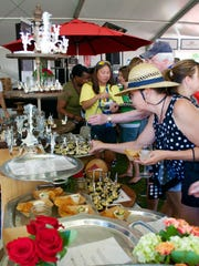 Guests enjoy goodies at the USA TODAY  Wine & Food Experience.