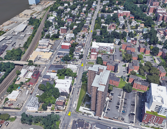 Warburton Avenue in Yonkers, between Ashburton and Lamartine, is closed due to a water main break, Tuesday, July 29, 2019.