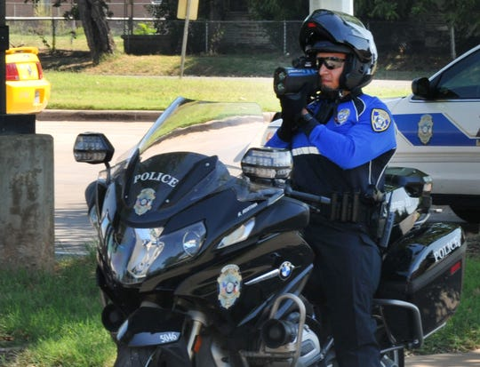 Wichita Falls police motorcycle officers received new uniforms Tuesday. WFPD Sgt. Van Dotson said the new uniforms make the officers more visible to the motoring public.