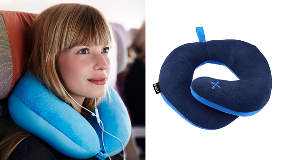 A travel pillow allows to you take a comfortable nap on the plane.