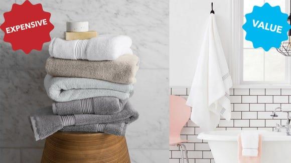 Fieldcrest Spa Solid Bath Towels from Target