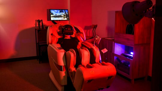 VR massage: Strapping on goggles lets you escape and relax on your own private island