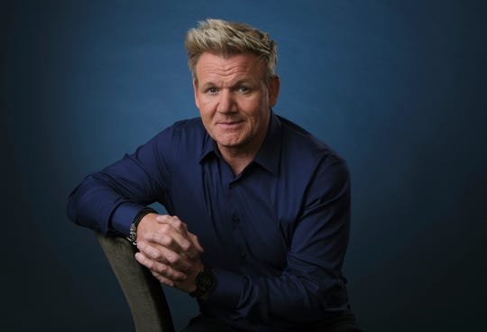 "This July 24, 2019 photo shows chef and TV personality Gordon Ramsay posing for a portrait to promote his National Geographic television series ""Gordon Ramsay: Uncharted,"" during the 2019 Television Critics Association Summer Press Tour at the Beverly Hilton in Beverly Hills, Calif. (Photo by Chris Pizzello/Invision/AP)"