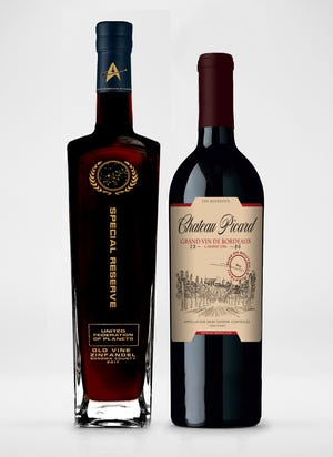 The first two releases in the Star Trek Wines series is a Special Reserve United Federation of Planets Old Vine Zinfandel, at left, and a 2016 Chateau Picard Cru Bourgeois from Bordeaux, France.