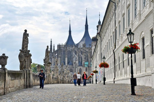 Kutná Hora's Gothic cathedral was funded by Prague's once-lucrative silver-mining and -minting industry.