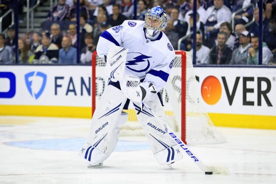 Tampa Bay Lightning goaltender Andrei Vasilevskiy led the NHL in wins and tied for fourth with six shutouts.
