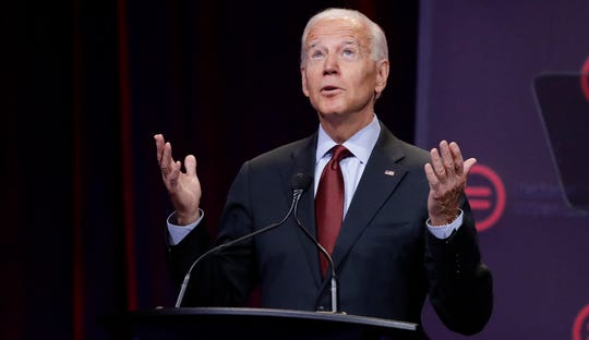 Democratic presidential candidate former Vice President Joe Biden, speaks during the National Urban League Conference,  July 25, 2019, in Indianapolis.