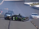 July 28: Kurt Busch (1) and Michael McDowell (34) spin out after Rickey Stenhouse Jr. (not pictured) turned Busch, who careened into McDowell, during the Gander RV 400 at Pocono Raceway.