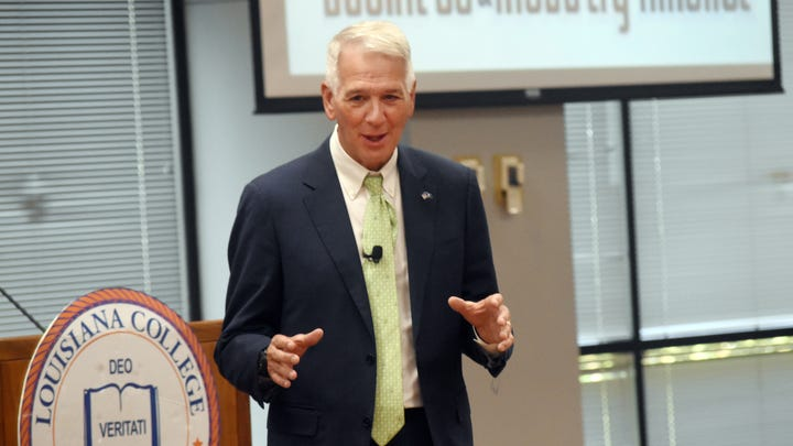 U.S. Sen. Ralph Abraham for the 5th congressional district was the guest speaker at the luncheon for the North Rapides Business and Industry Alliance held Wednesday, July 31, 2019 at Louisiana College.