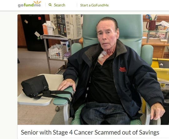 This 77-year-old Ocean County man, a military veteran who worked as a bus driver until he was diagnosed with stage 4 colon cancer in March, was scammed out his life's savings last week.