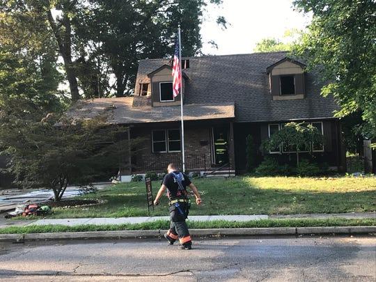 A Bimbler Boulevard house caught fire on July 31, 2019.