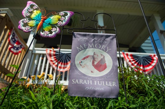 Deborah Fuller keeps a memorial to her daughter Sarah Fuller on display at her home in Berlin, N.J.
