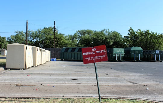 One of two plastics containers at the H-E-B neighborhood recycling center was removed as of Tuesday. Abilenians were making runs to the sites Wednesday to recycle plastics and glass before those services ended.