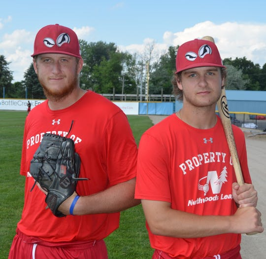 Brothers Mitchell Lee, left, and Michael Lee have spent the summer together playing for the Battle Creek Bombers.