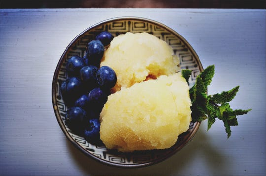 This honey sorbet recipe allows for some flexibility. The type of honey and herbs you choose will influence the flavor.