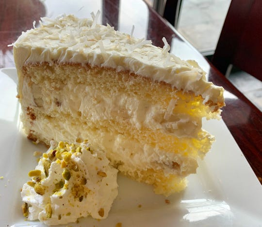 Arrive early if you want the Banana-Coconut Dream Cake at Skewers Mediterranean Grill in Indialantic. It sells out quickly.