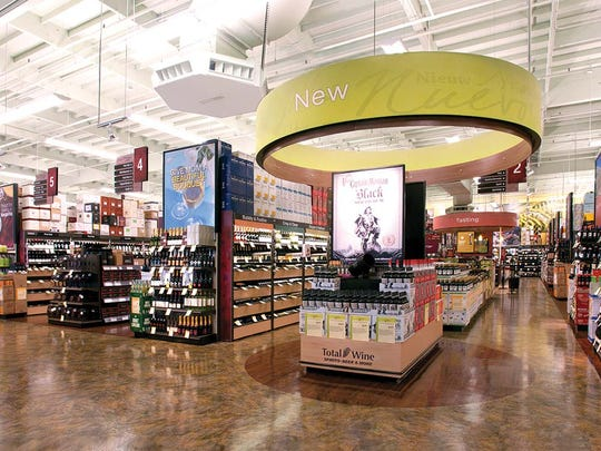 The inside of a  typical Total Wine & More. A location is planned to open on Sept. 26 in Corpus Christi's Moore Plaza.