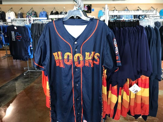 New Dia De Los Hooks jerseys and apparel will go on sale Thursday, Aug. 1 at the Hooks team shop, Hook, Line & Sinker in conjunction with the team's Dia De Los Hooks weekend home stand.