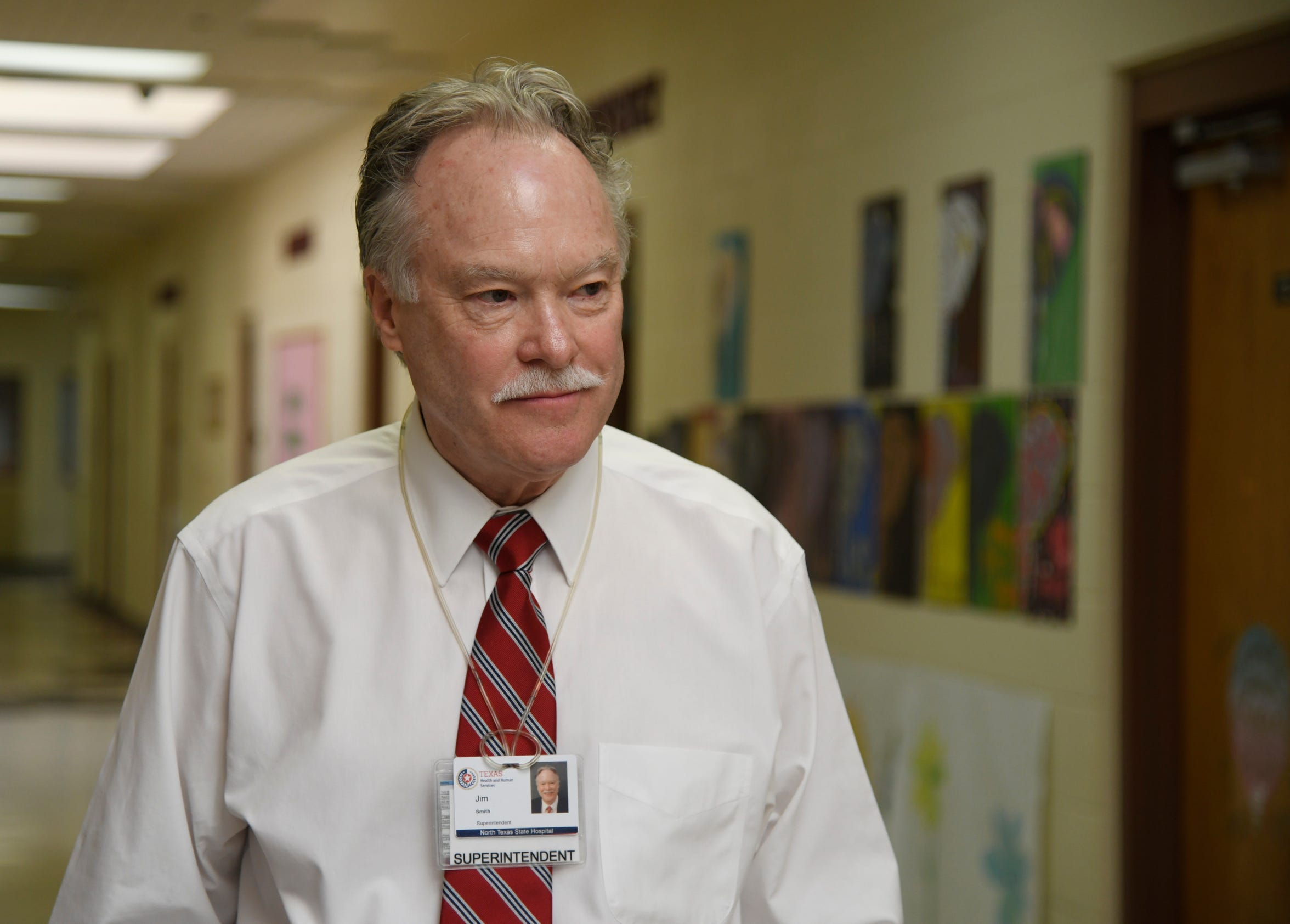 Superintendent Jim Smith gives a tour of the North Texas State Hospital, Monday, April 8, 2019, in Vernon, Texas.