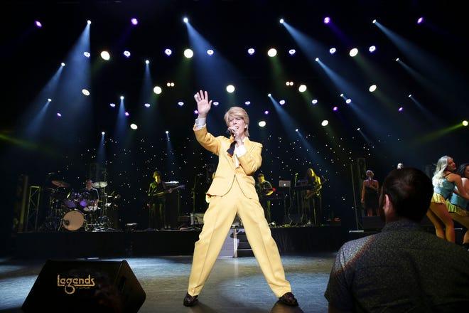 David Brighton as David Bowie in 'Legends in Concert.'