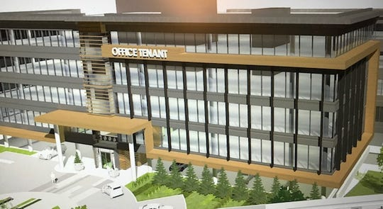 Here's a rendering of one of two office buildings a developer wants to build off Montgomery Road across from the Kenwood Towne Centre.