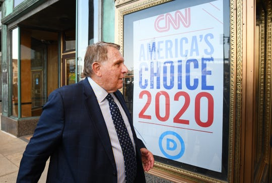 James P. Hoffa heads into the Fox Theatre prior to the second night of Democratic presidential primary debates. The Teamsters are going to do their damnedest to ensure that hardworking Americans come out on top, Hoffa writes.