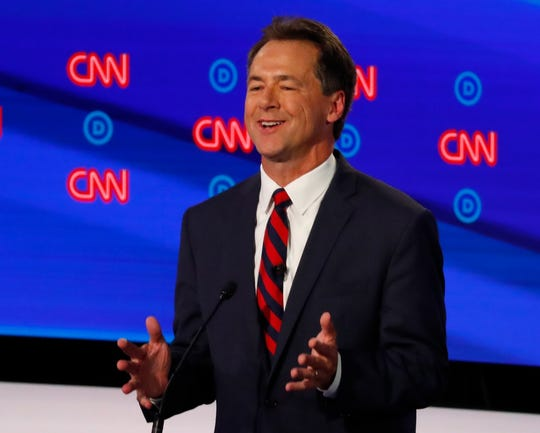 Montana Gov. Steve Bullock speaks during the first of two Democratic presidential primary debates Tuesday in Detroit.
