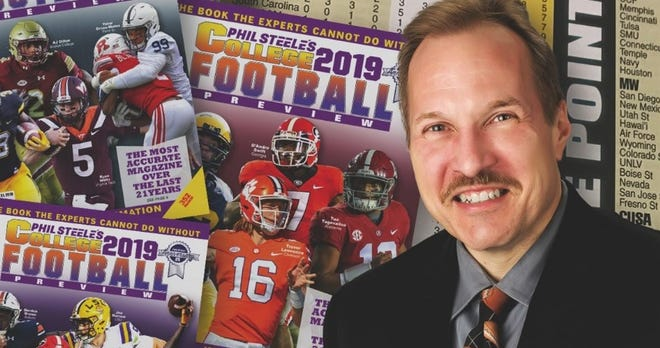 """College football analyst Phil Steele is a guest on Angelique S. Chengelis' podcast, """"View from the Press Box."""""""