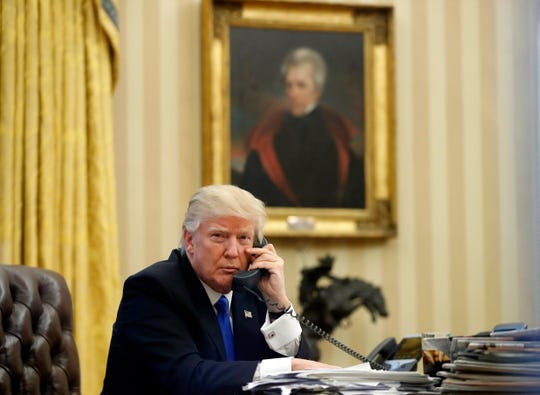 President Donald Trump installed a painting of President Andrew Jackson in the first few days of his administration.