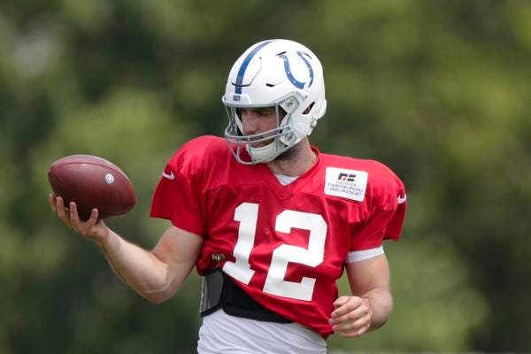 Colts quarterback Andrew Luck is expected to be out three more days and miss the preseason opener at Buffalo due to a lingering leg injury.