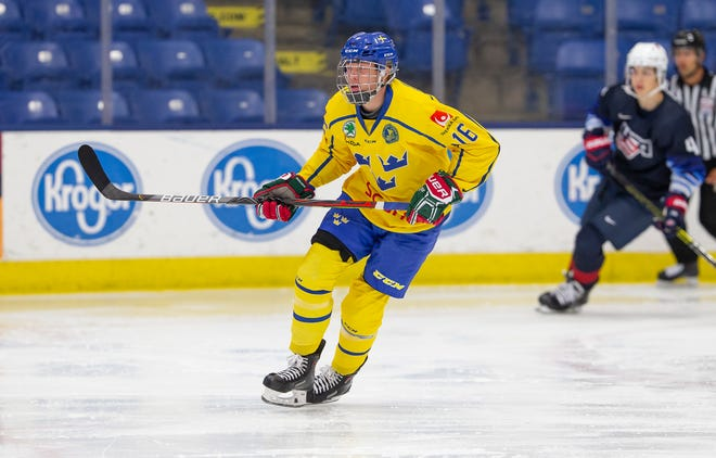 Swedish forward Lucas Raymond was selected by the Detroit Red Wings with the fourth overall pick in the 2020 NHL draft.