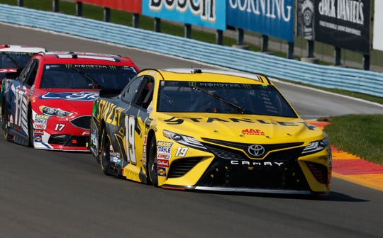 Monster Energy NASCAR Cup Series driver Daniel Suarez (19) during the Go Bowling at The Glen at Watkins Glen International in 2018.